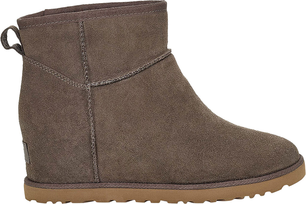 Women's UGG Classic Femme Mini Wedge Ankle Boot, Slate Soft Suede, large, image 2