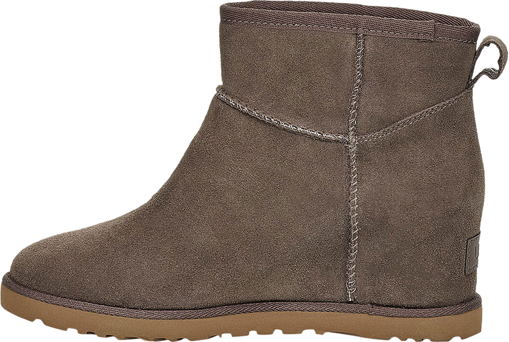 Women's UGG Classic Femme Mini Wedge Ankle Boot, Slate Soft Suede, large, image 3