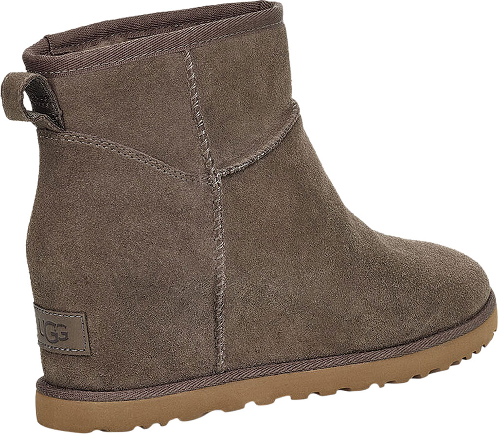 Women's UGG Classic Femme Mini Wedge Ankle Boot, Slate Soft Suede, large, image 4