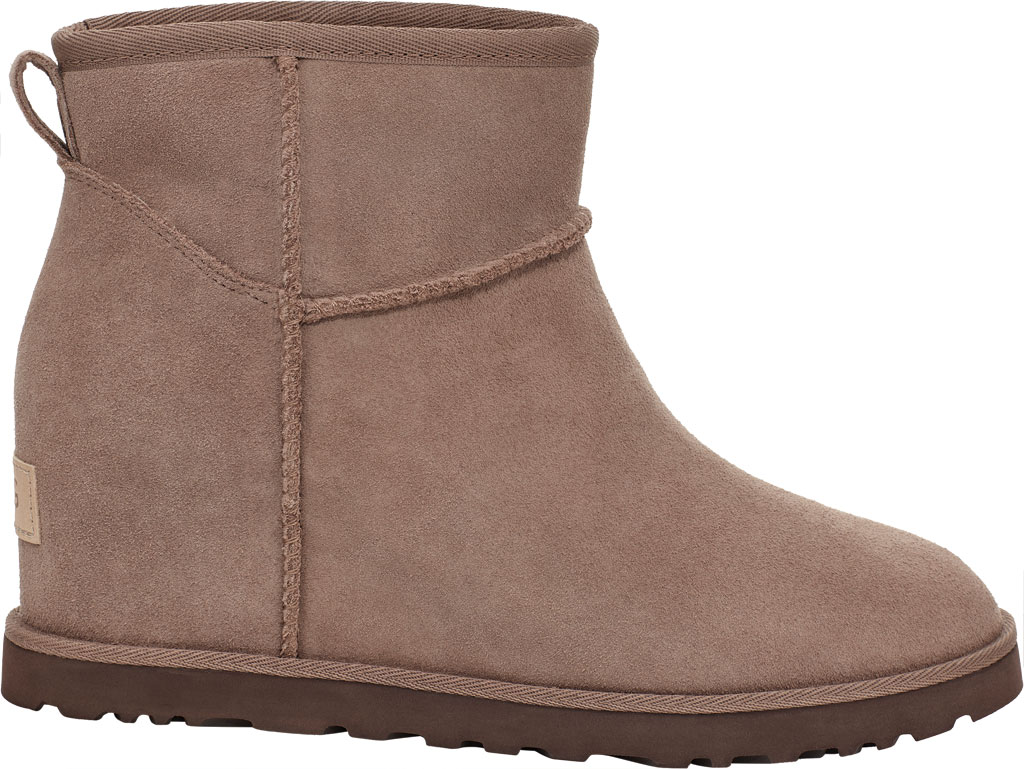 Women's UGG Classic Femme Mini Wedge Ankle Boot, Caribou Suede, large, image 1