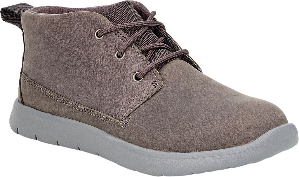 Children's UGG Canoe Waterproof Chukka Boot, Charcoal Leather, large, image 1
