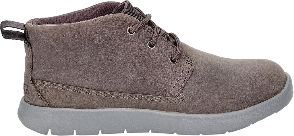 Children's UGG Canoe Waterproof Chukka Boot, Charcoal Leather, large, image 2
