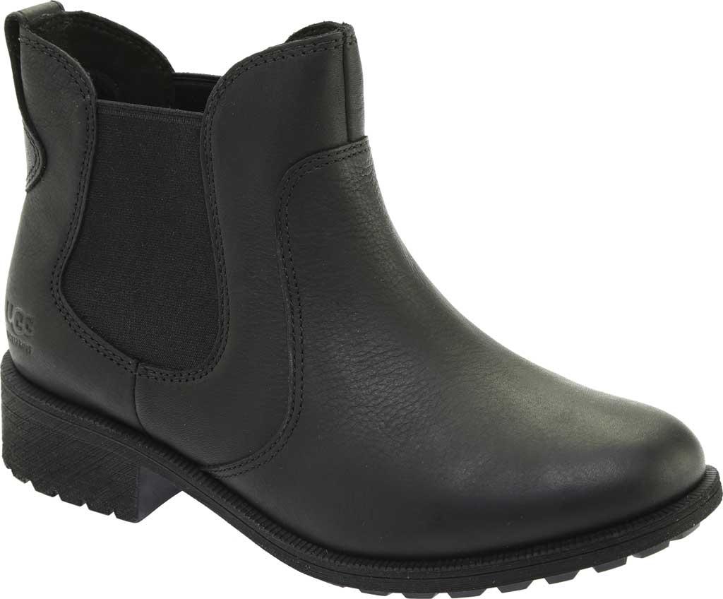 Women's UGG Bonham III Waterproof Boot, Black Leather, large, image 1