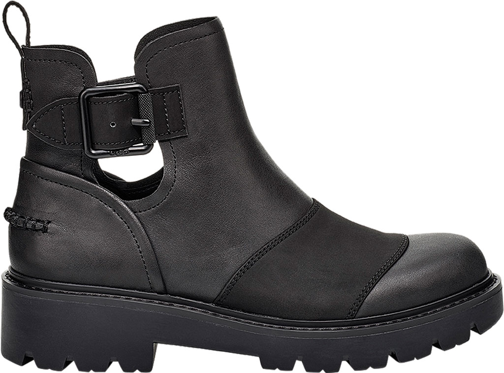 Women's UGG Stockton Ankle Boot, Black Leather, large, image 1