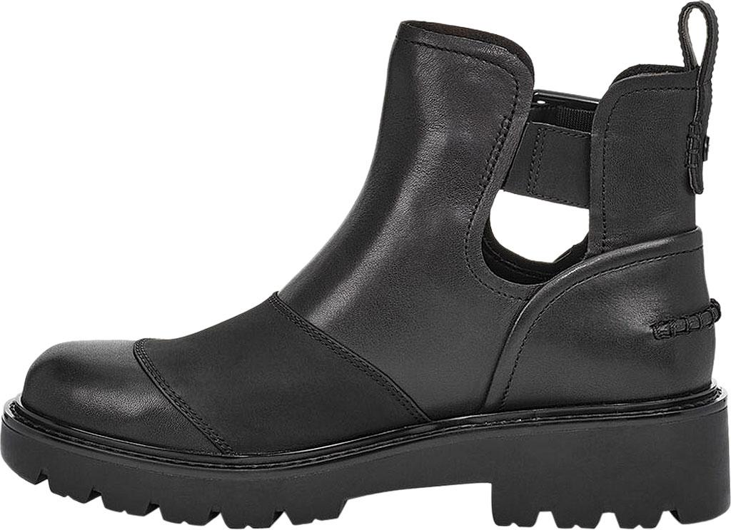 Women's UGG Stockton Ankle Boot, Black Leather, large, image 3