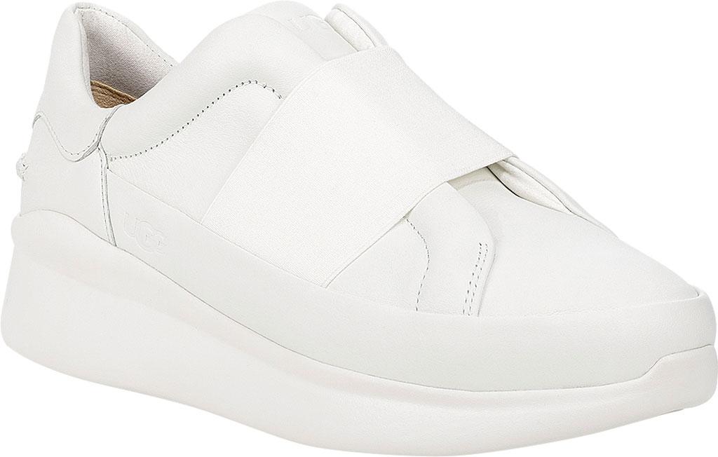Women's UGG Libu Sneaker, White Leather, large, image 1
