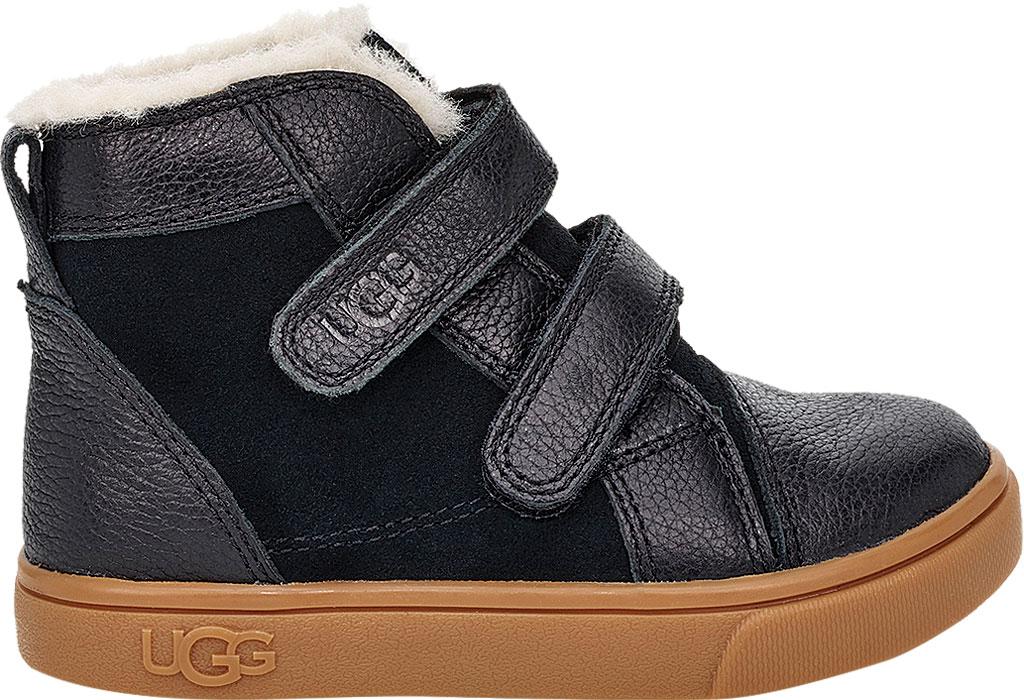 Infant UGG Rennon II High Top Sneaker - Toddler, Black Soft Suede/Leather, large, image 2