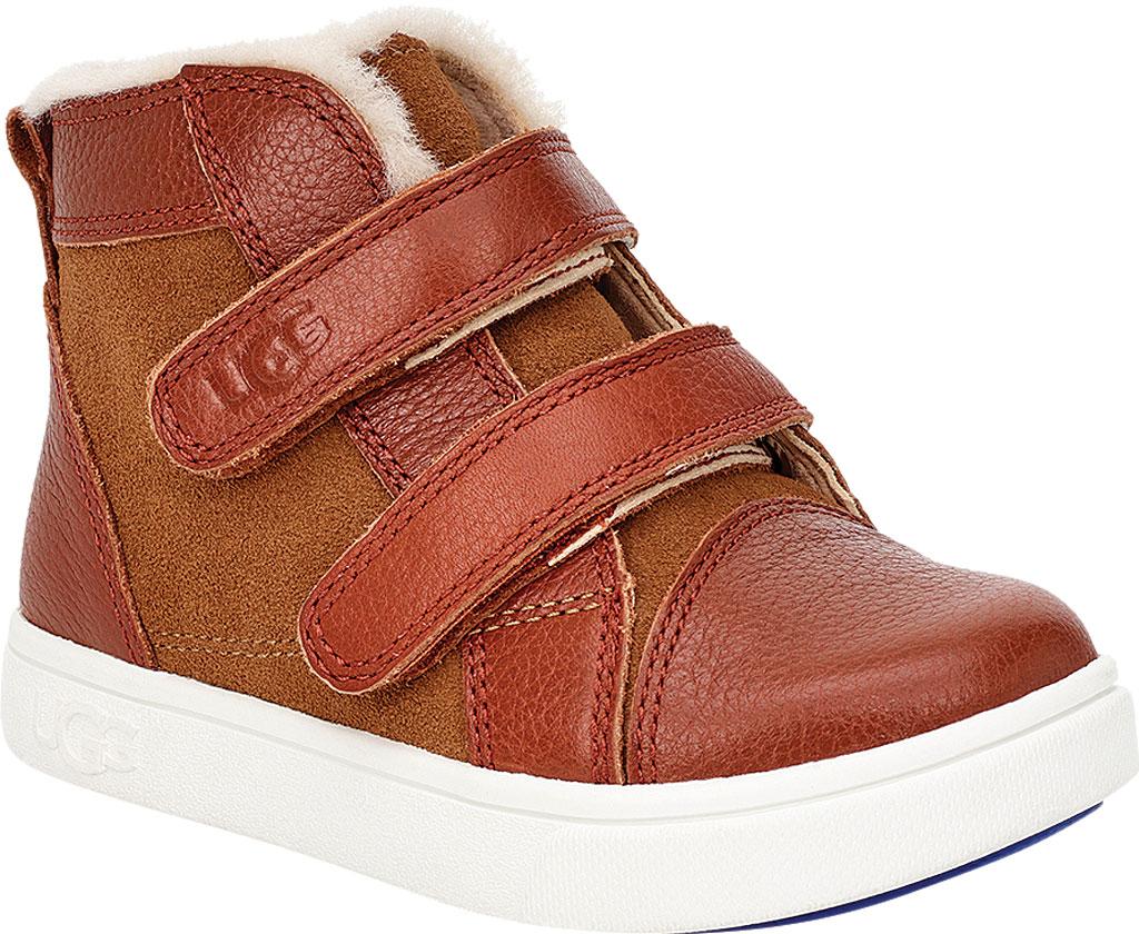 Infant UGG Rennon II High Top Sneaker - Toddler, Chestnut Soft Suede/Leather, large, image 1