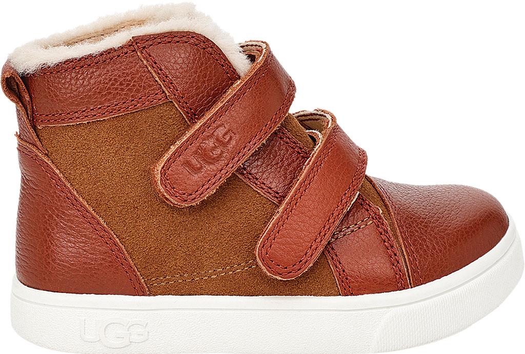 Infant UGG Rennon II High Top Sneaker - Toddler, Chestnut Soft Suede/Leather, large, image 2