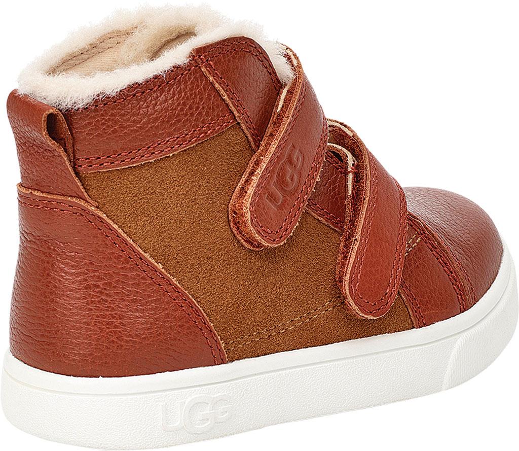 Infant UGG Rennon II High Top Sneaker - Toddler, Chestnut Soft Suede/Leather, large, image 4
