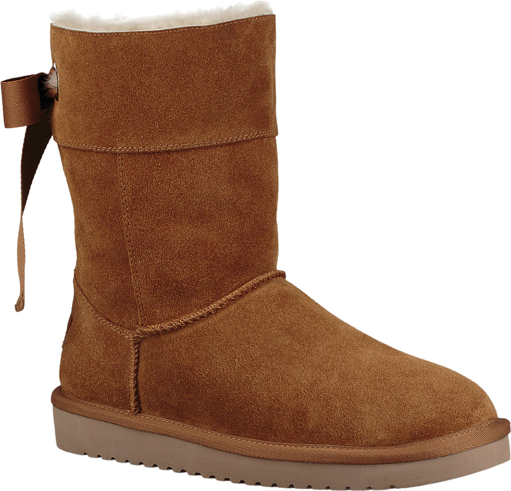 Women's Koolaburra by UGG Andrah Short Mid Calf Boot, Chestnut Suede, large, image 1