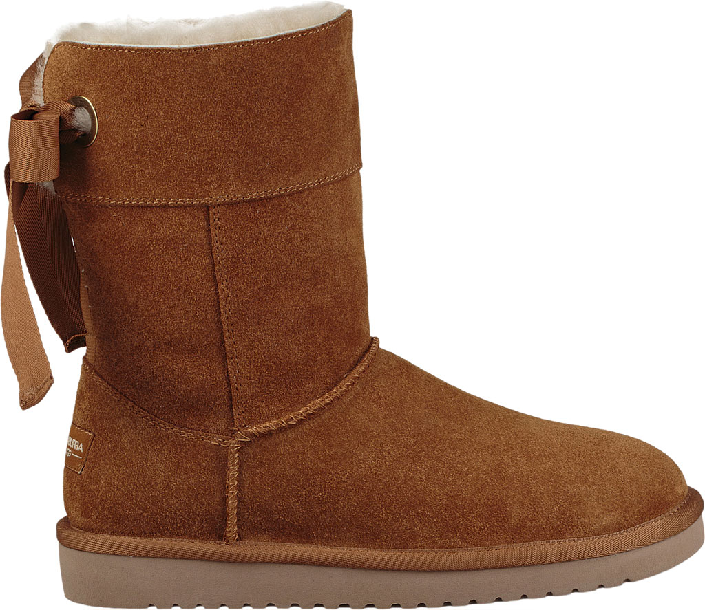 Women's Koolaburra by UGG Andrah Short Mid Calf Boot, Chestnut Suede, large, image 2