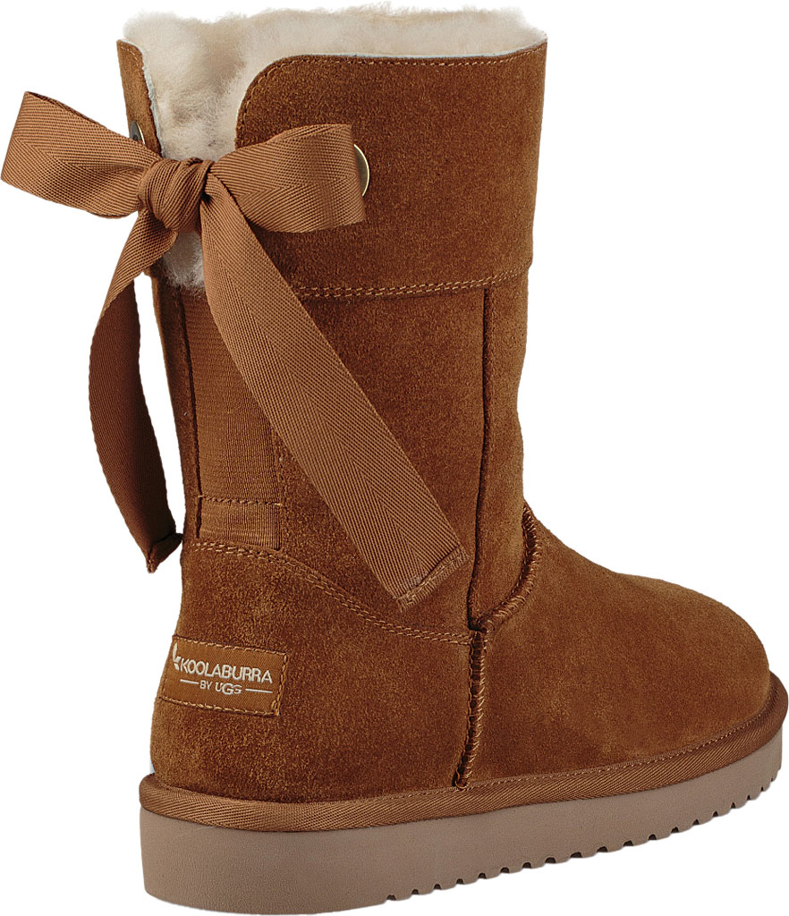 Women's Koolaburra by UGG Andrah Short Mid Calf Boot, Chestnut Suede, large, image 3