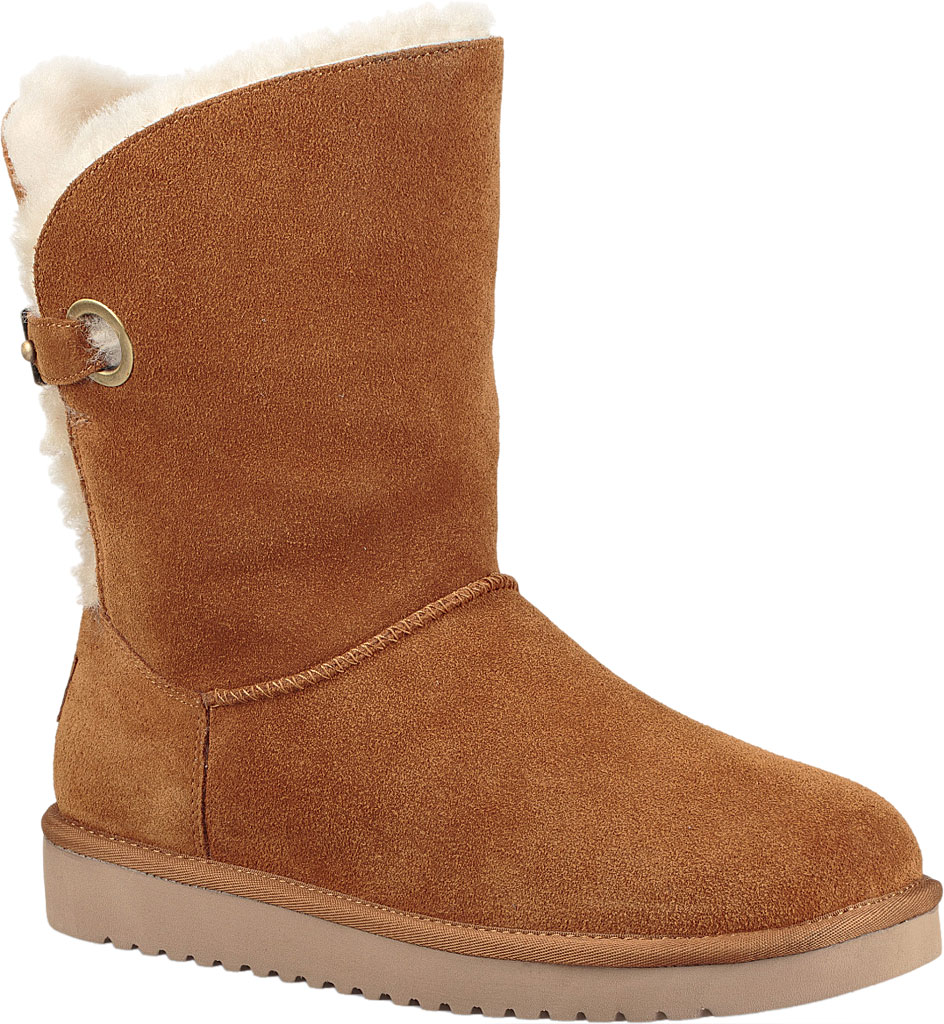 Women's Koolaburra by UGG Remley Short Mid Calf Boot, Chestnut Suede, large, image 1