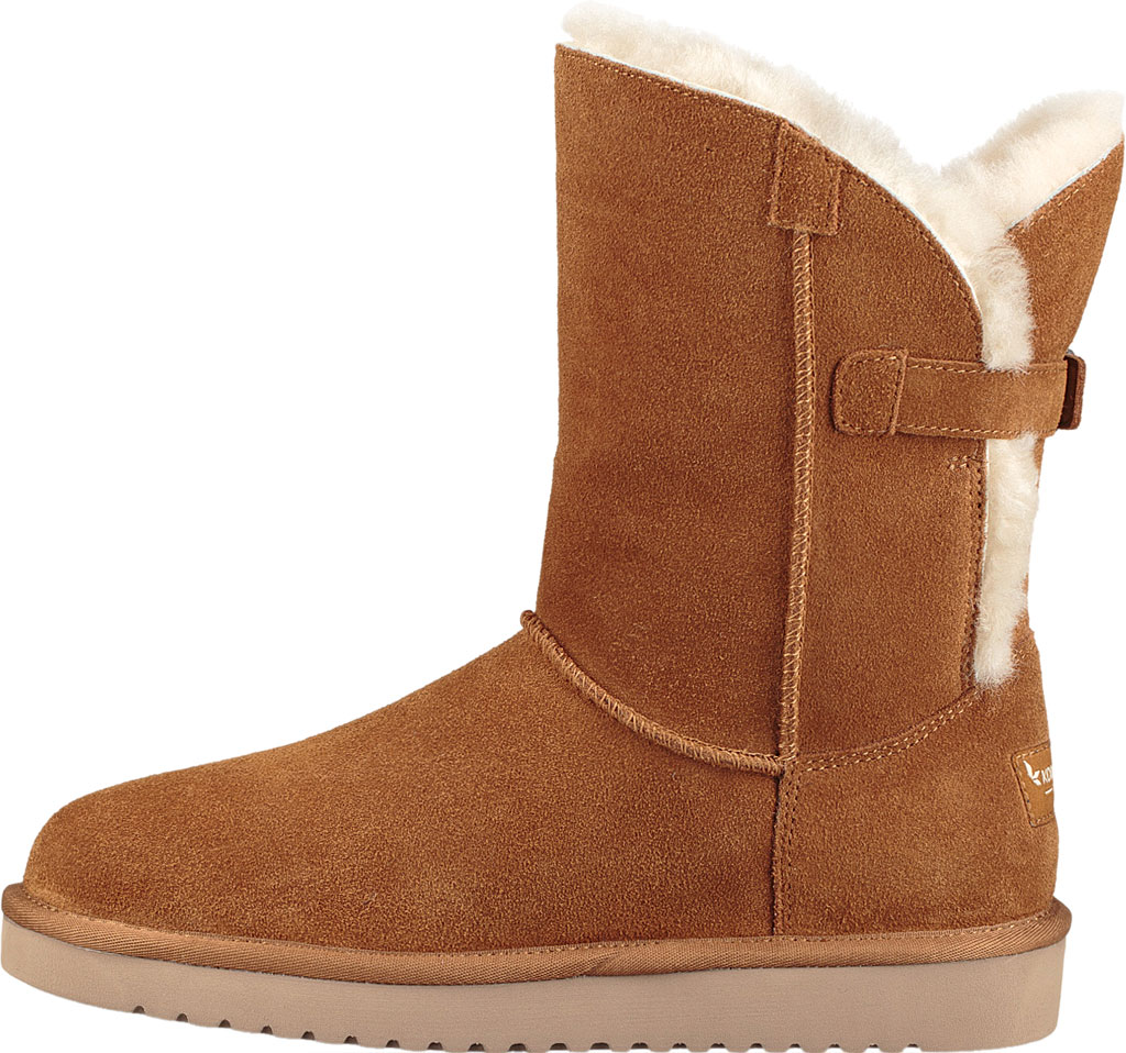 Women's Koolaburra by UGG Remley Short Mid Calf Boot, Chestnut Suede, large, image 3