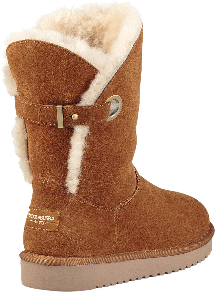 Women's Koolaburra by UGG Remley Short Mid Calf Boot, Chestnut Suede, large, image 4
