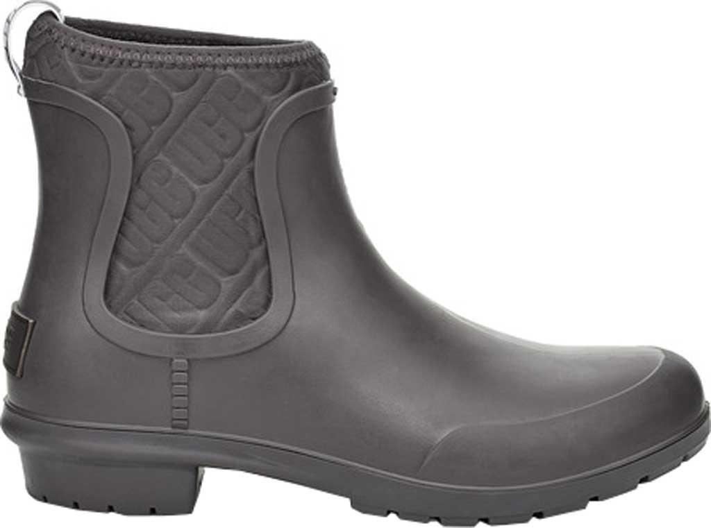 Women's UGG Chevonne Rain Boot, Charcoal PVC, large, image 1
