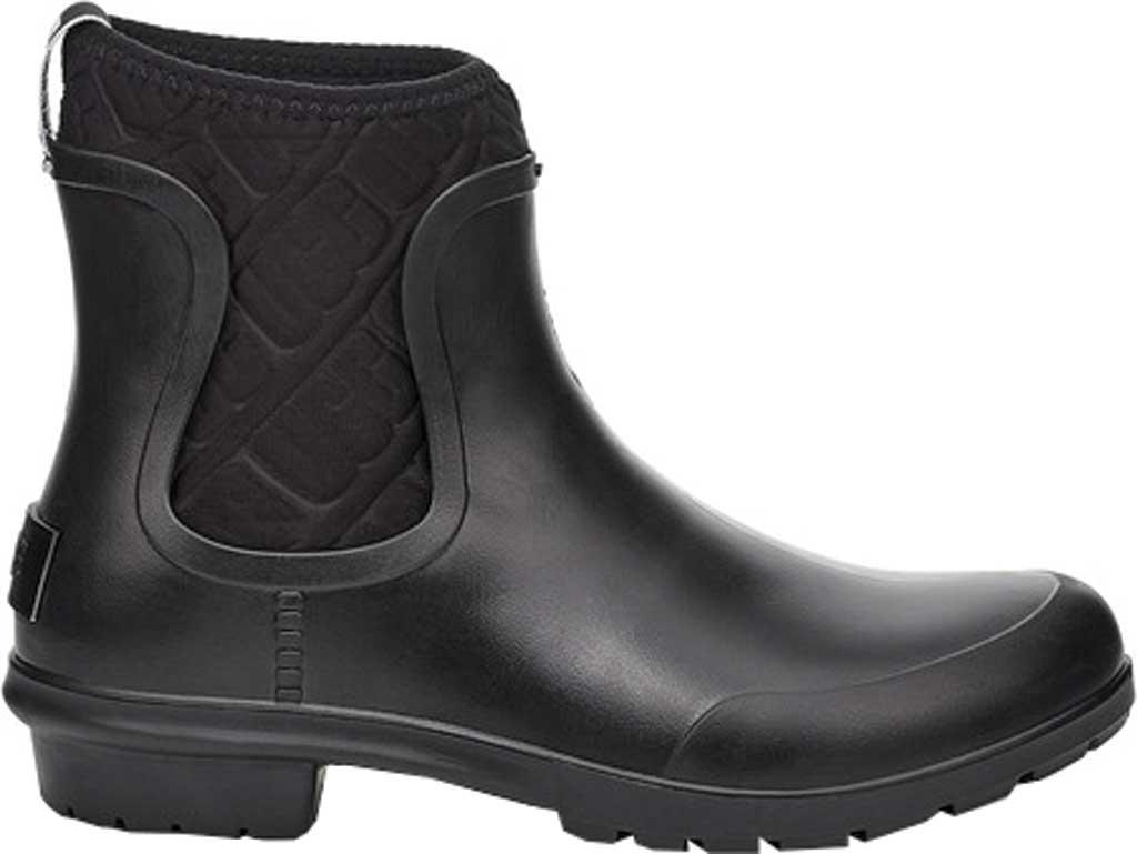 Women's UGG Chevonne Rain Boot, Black PVC, large, image 1