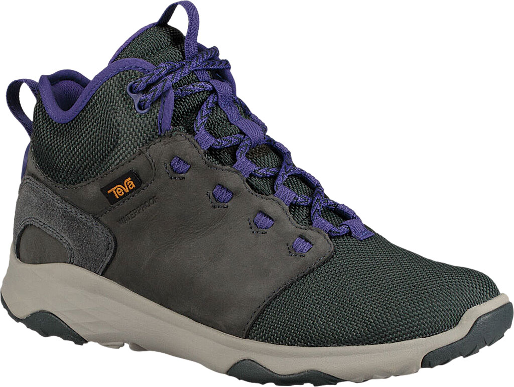 Women's Teva Arrowood Venture Mid Waterproof Boot, Darkest Spruce Leather/Textile, large, image 1