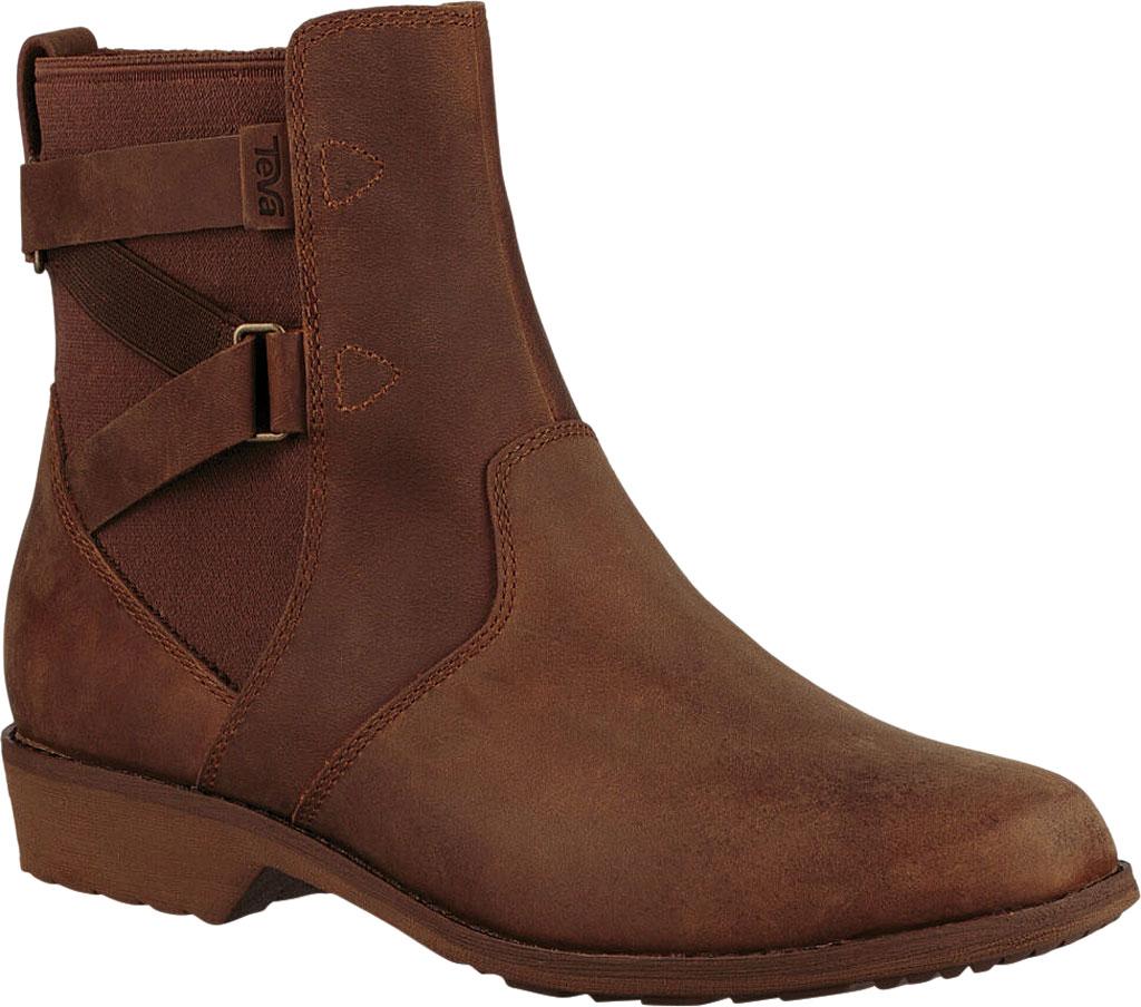 Women's Teva Ellery Waterproof Ankle Boot, Pecan Leather, large, image 1
