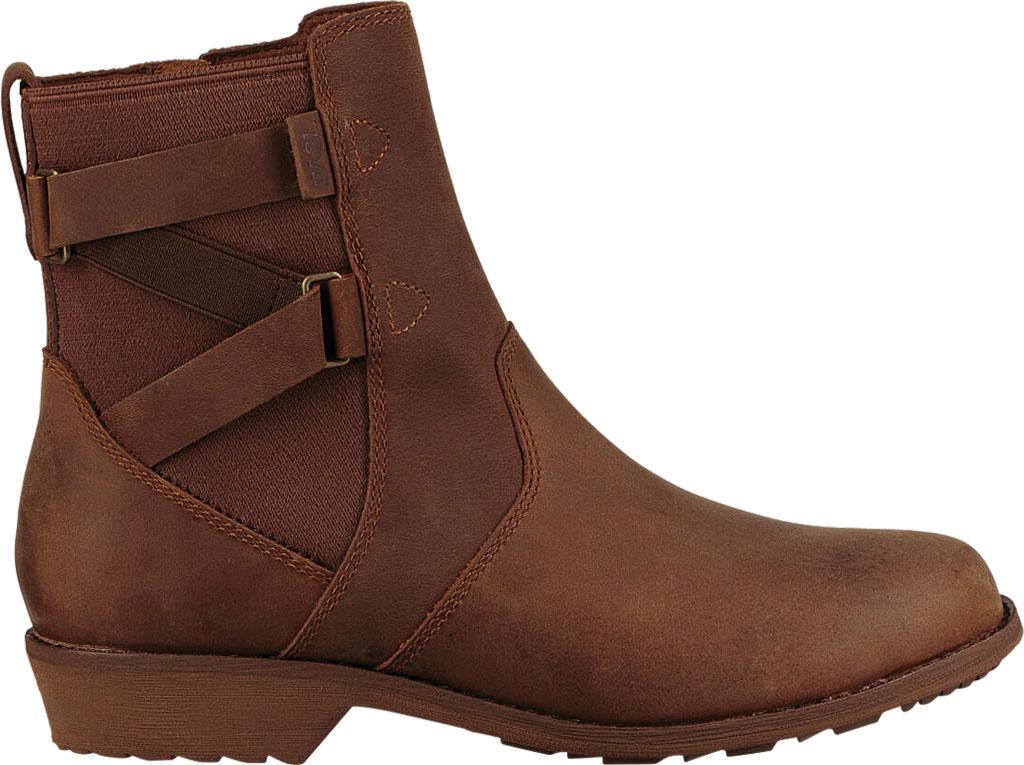 Women's Teva Ellery Waterproof Ankle Boot, Pecan Leather, large, image 2