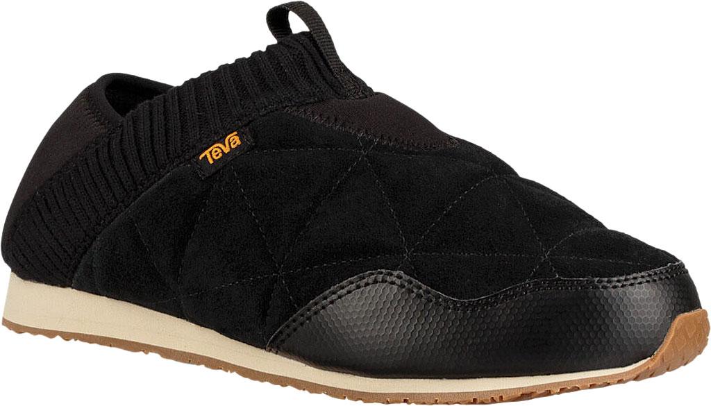 Women's Teva Ember Moc Toe Sneaker, Black Suede, large, image 1