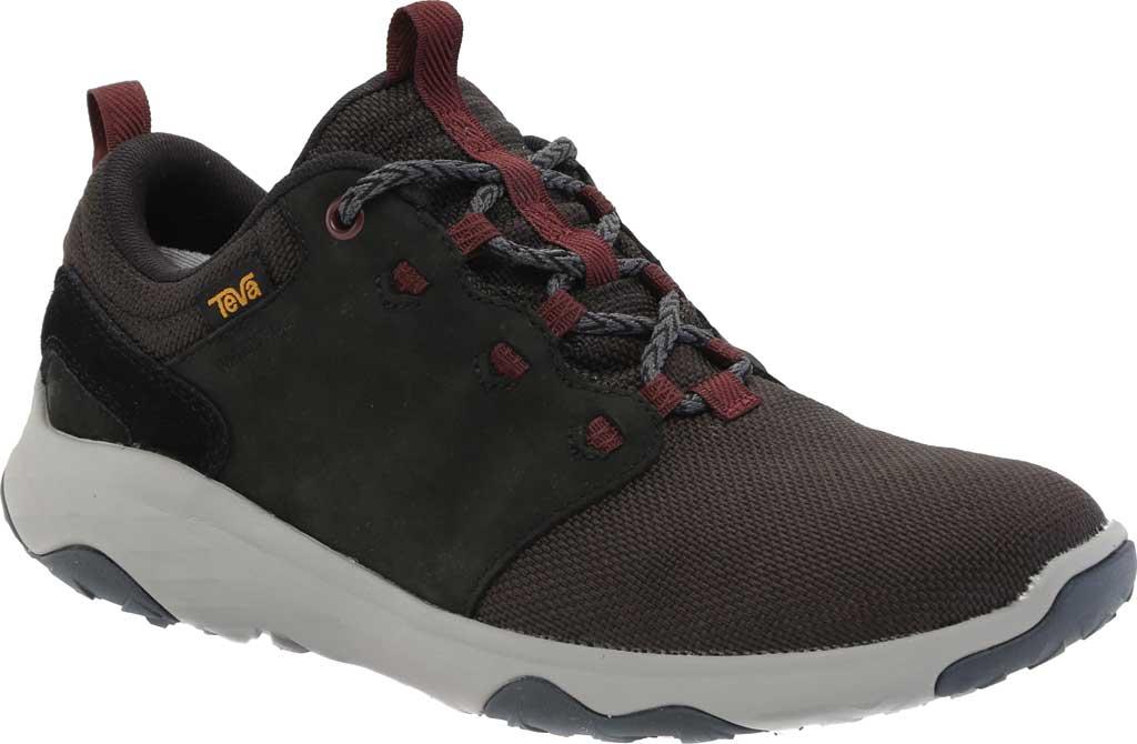 Women's Teva Arrowood Venture Waterproof Sneaker, Black Leather/Textile, large, image 1