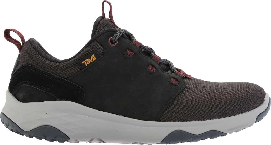 Women's Teva Arrowood Venture Waterproof Sneaker, Black Leather/Textile, large, image 2