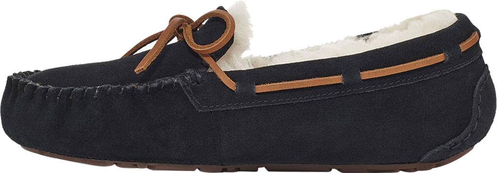 Women's UGG Dakota Water Resistant Moccasin Slipper, Black Suede, large, image 3