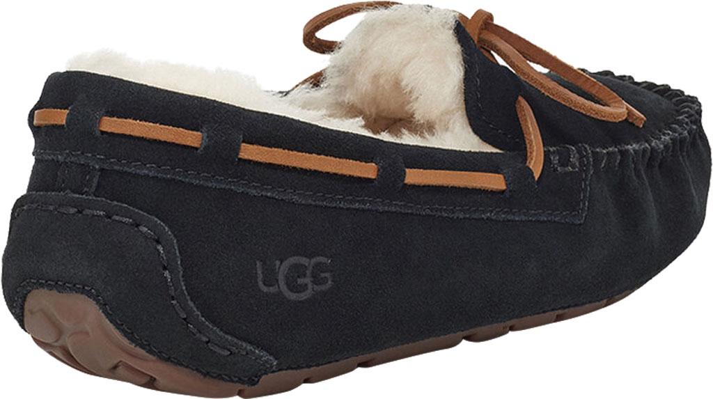 Women's UGG Dakota Water Resistant Moccasin Slipper, Black Suede, large, image 4
