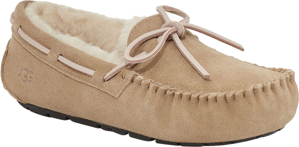 Women's UGG Dakota Water Resistant Moccasin Slipper, Tabacco Suede, large, image 1