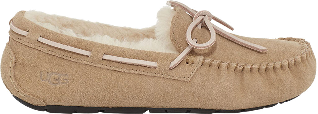 Women's UGG Dakota Water Resistant Moccasin Slipper, Tabacco Suede, large, image 2
