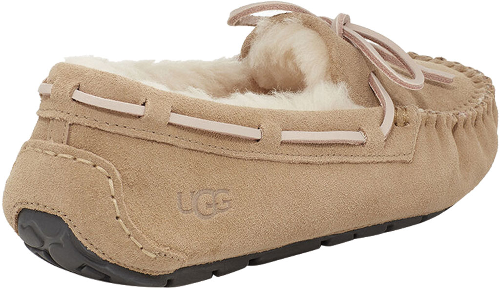 Women's UGG Dakota Water Resistant Moccasin Slipper, Tabacco Suede, large, image 4