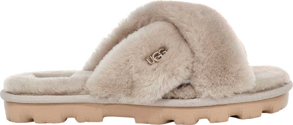 Women's UGG Fuzzette Fuzzy Slipper, Goat Sheepskin, large, image 2