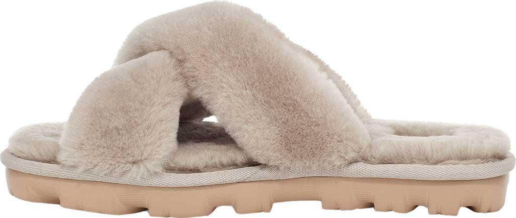 Women's UGG Fuzzette Fuzzy Slipper, Goat Sheepskin, large, image 3