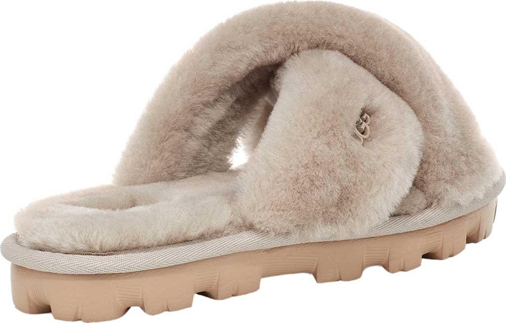 Women's UGG Fuzzette Fuzzy Slipper, Goat Sheepskin, large, image 4