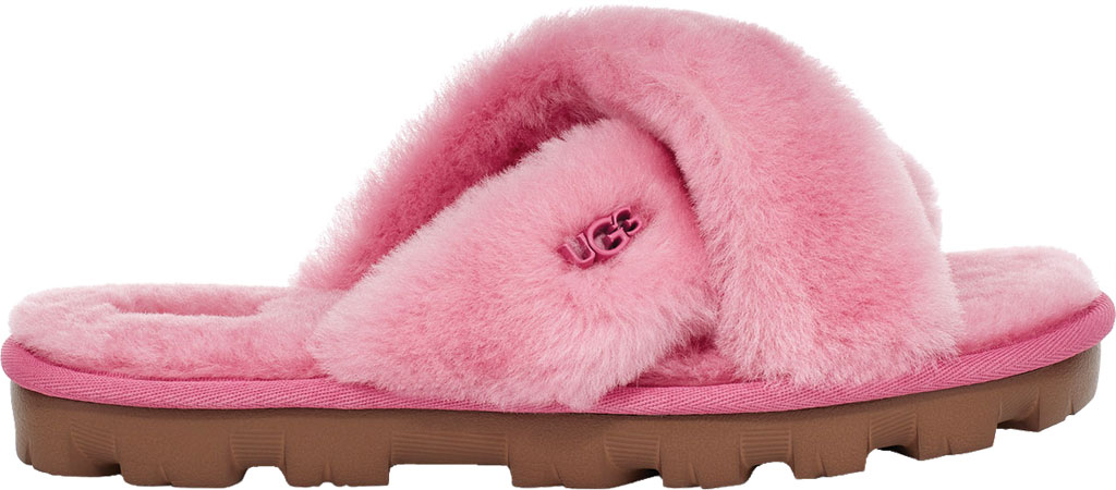 Women's UGG Fuzzette Fuzzy Slipper, Wild Berry Sheepskin, large, image 2