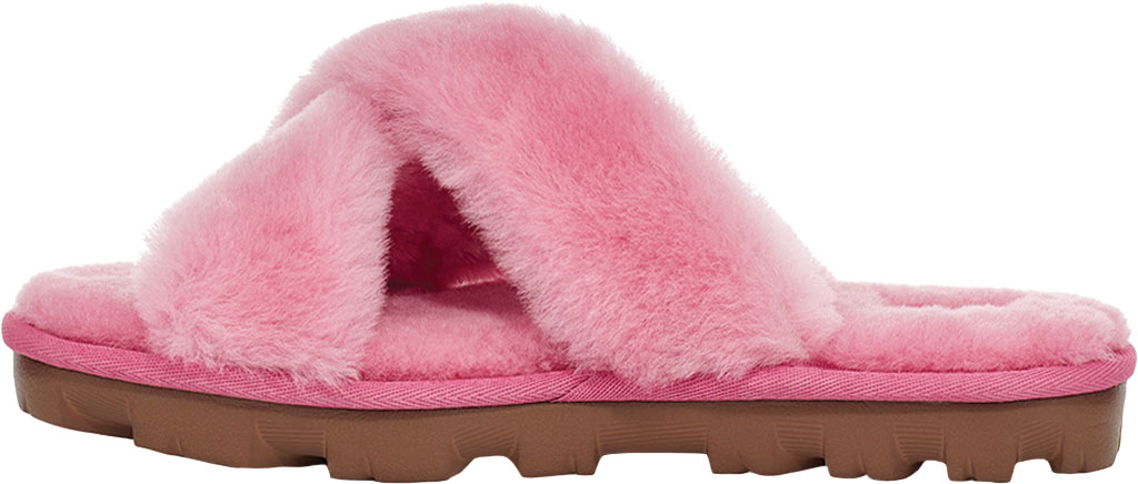 Women's UGG Fuzzette Fuzzy Slipper, Wild Berry Sheepskin, large, image 3
