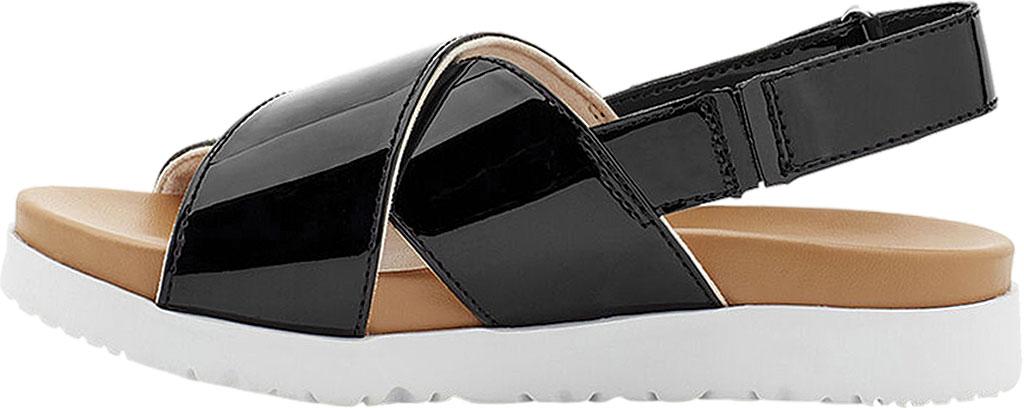 Girls' UGG Klara Cross Strap Slingback - Kids, Black Synthetic Patent Leather, large, image 3