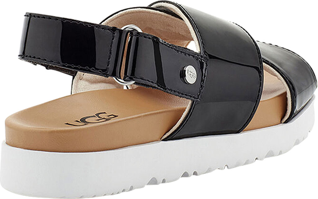 Girls' UGG Klara Cross Strap Slingback - Kids, Black Synthetic Patent Leather, large, image 4