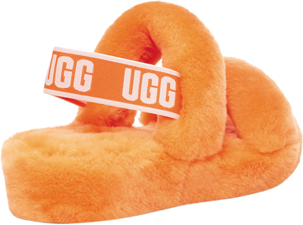Women's UGG Oh Yeah Slingback, California Poppy Sheepskin, large, image 4