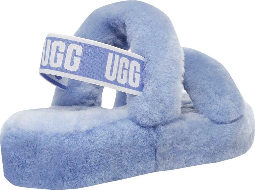 Women's UGG Oh Yeah Slingback, Cornflower Sheepskin, large, image 4