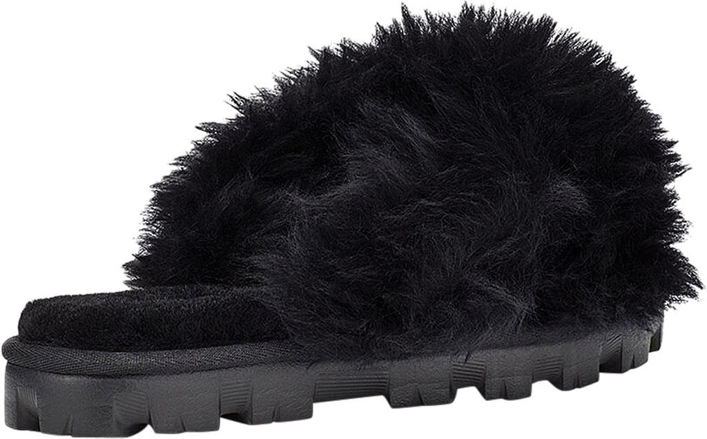 Women's UGG Fuzzalicious Fuzzy Slipper, Black Sheepskin, large, image 4