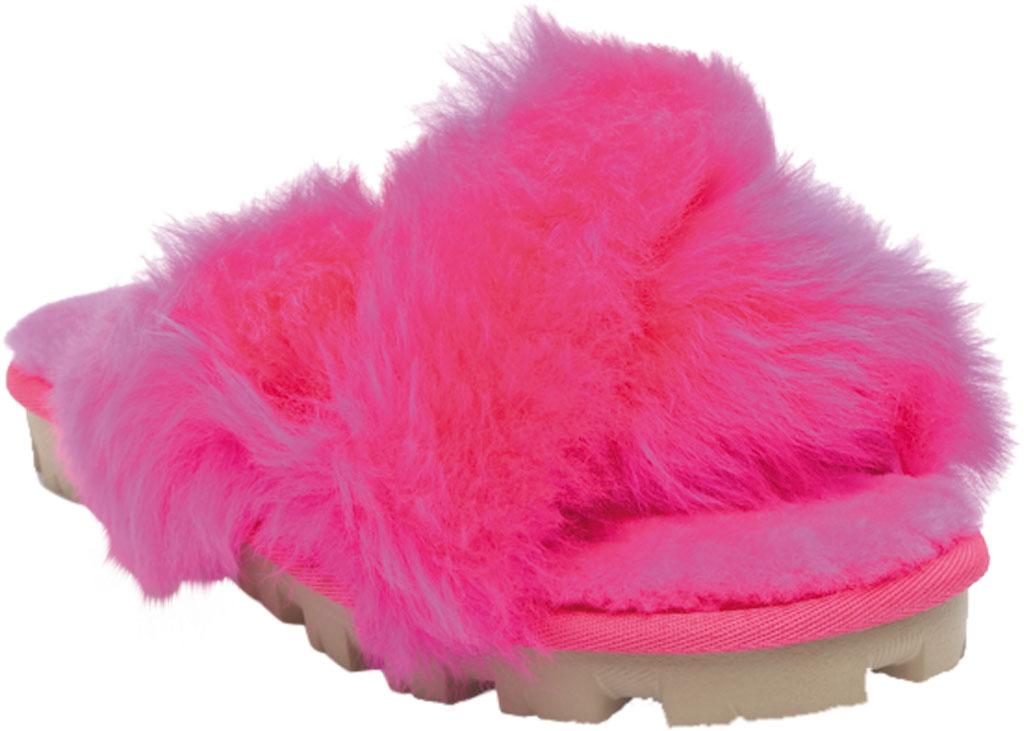 Women's UGG Fuzzalicious Fuzzy Slipper, Rock Rose Sheepskin, large, image 1