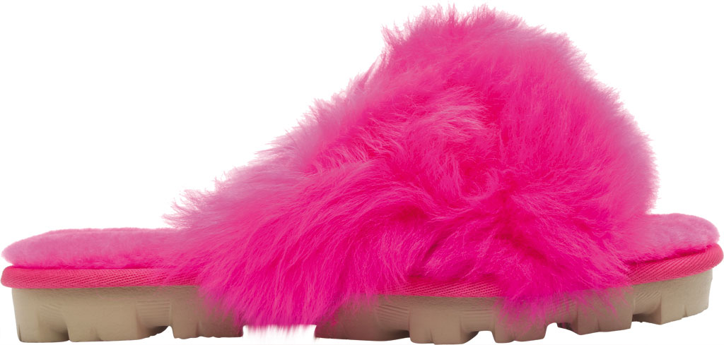 Women's UGG Fuzzalicious Fuzzy Slipper, Rock Rose Sheepskin, large, image 2