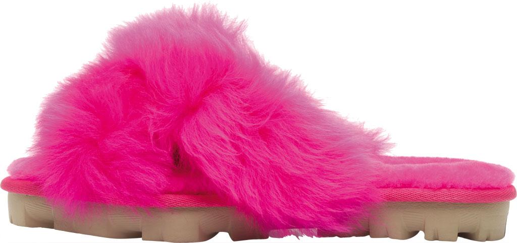 Women's UGG Fuzzalicious Fuzzy Slipper, Rock Rose Sheepskin, large, image 3