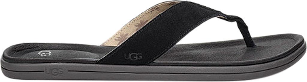 Men's UGG Brookside Flip Flop, Black Suede, large, image 1