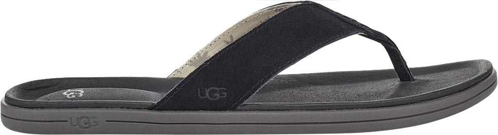 Men's UGG Brookside Flip Flop, Black Suede, large, image 2