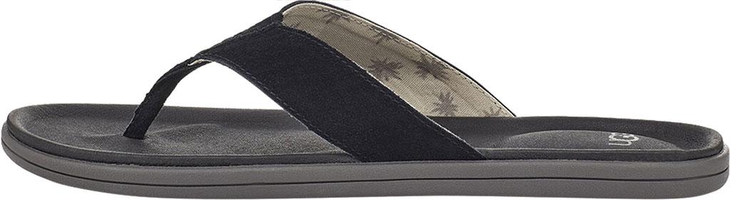 Men's UGG Brookside Flip Flop, Black Suede, large, image 3