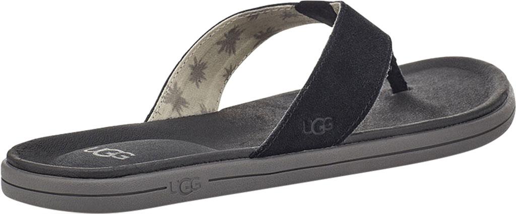 Men's UGG Brookside Flip Flop, Black Suede, large, image 4